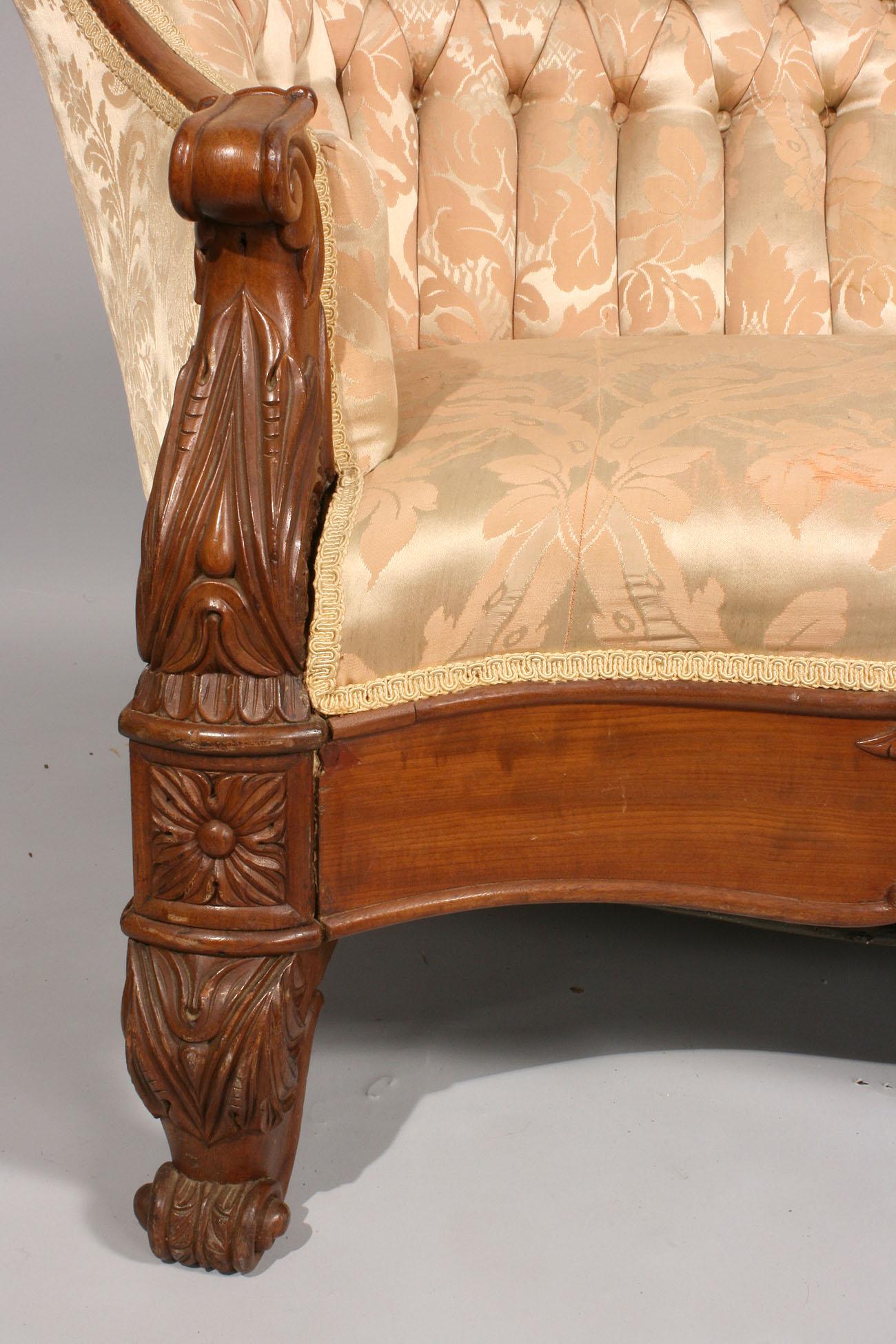 Lot 473 Rococo Revival Victorian Sofa
