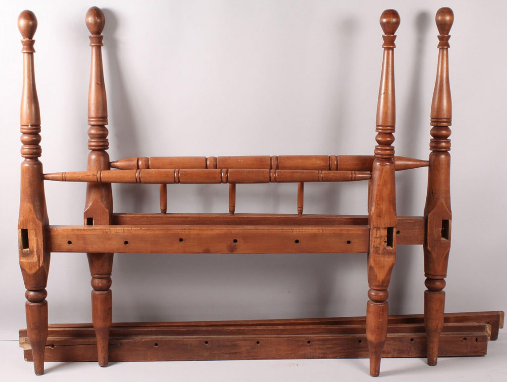 Lot 475: Sheraton Cherry Rope bed