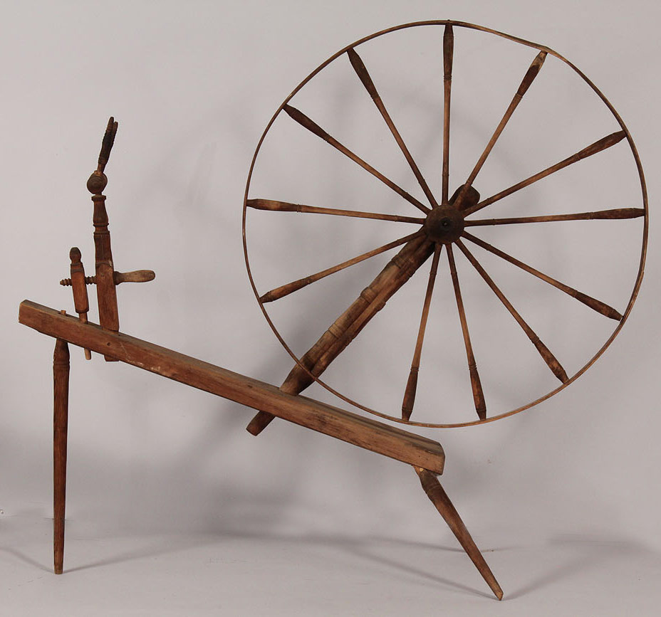 Lot 476: Southern Spinning Wheel, 19th c.