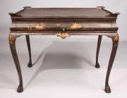 47: English Chinoiserie Queen Anne Style Table