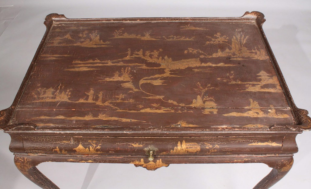 Lot 47: English Chinoiserie Queen Anne Style Table