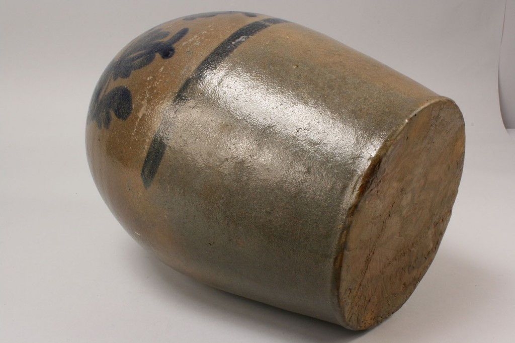 Lot 481: Beaver PA Cobalt Decorated Stoneware Jug
