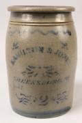 484: Pennsylvania Stoneware Jar, Hamilton & Jones