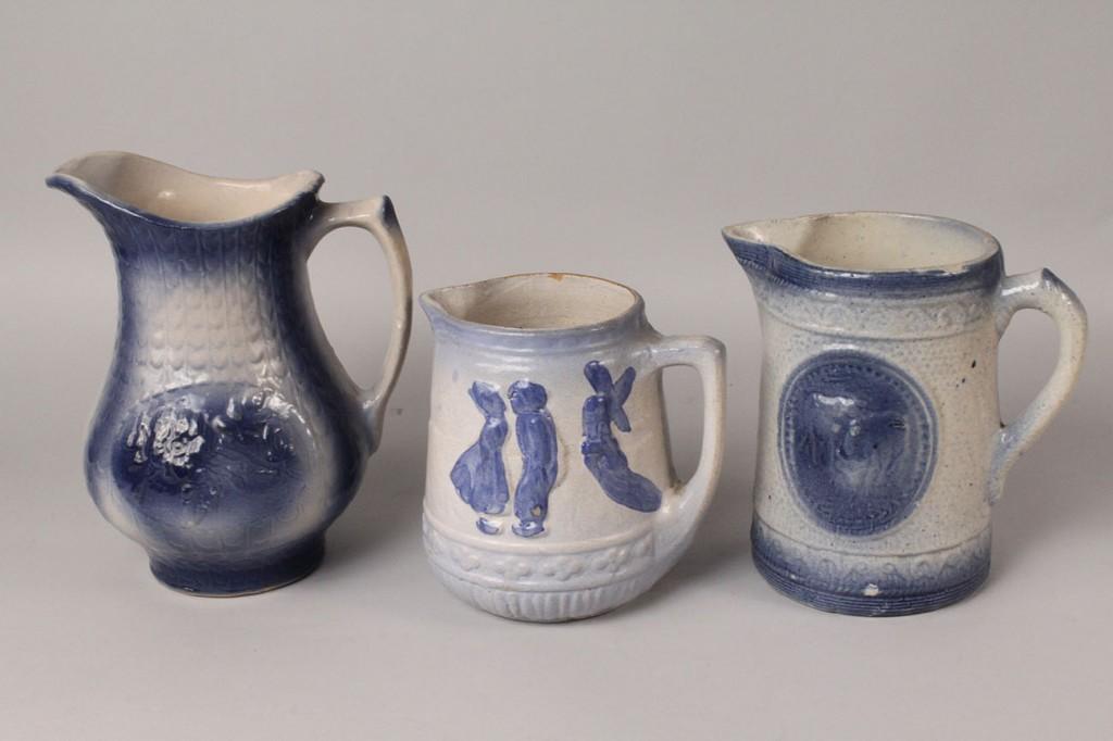 Lot 486: Lot of Blue Salt-Glazed Stoneware, 6 pieces