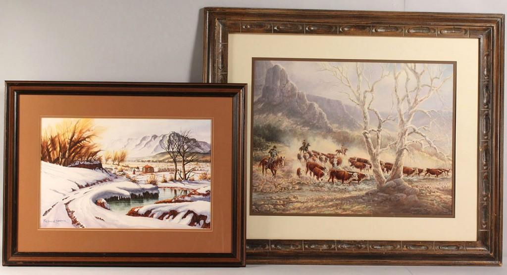 Lot 515: 2 pcs Southwestern Art, Draper and Humphrey