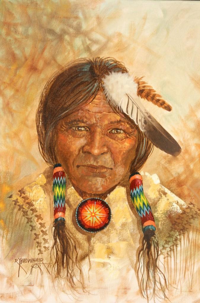 Lot 516: Navajo chief by Robert Yellowhair