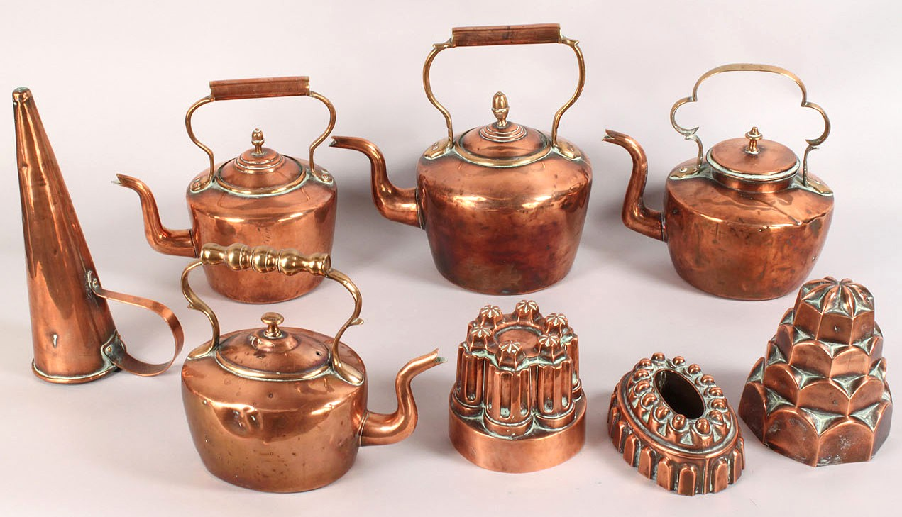 51: Group of Copper Kitchen antiques