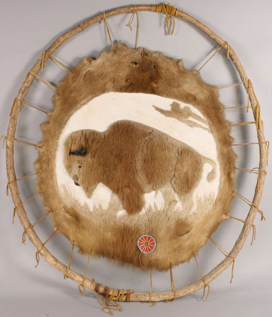 Lot 520: Native American Wall Hanging, pair of mocassins