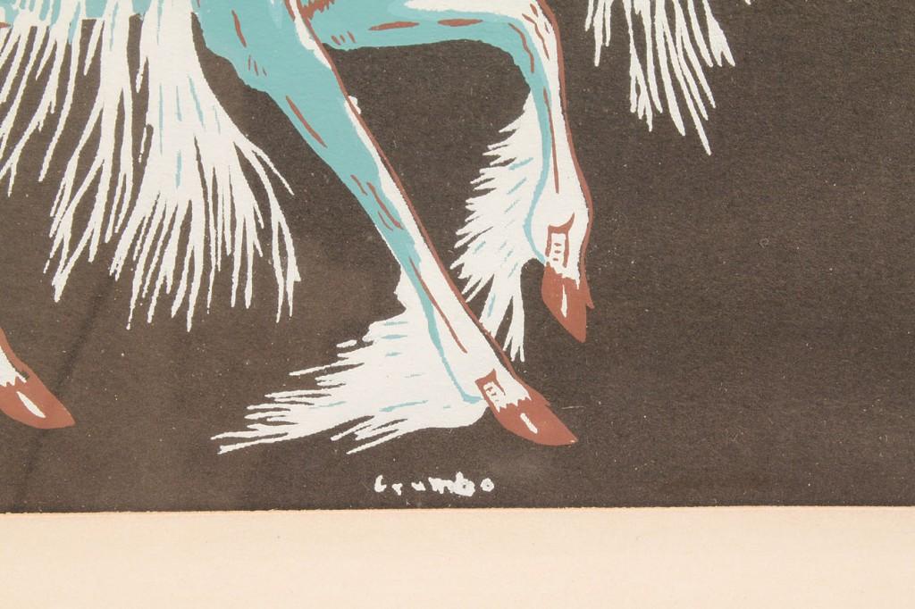 Lot 521: Woody Crumbo, pr. Navajo Horse Silkscreens