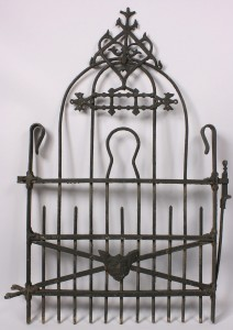Lot 522: Knoxville TN marked iron garden gate