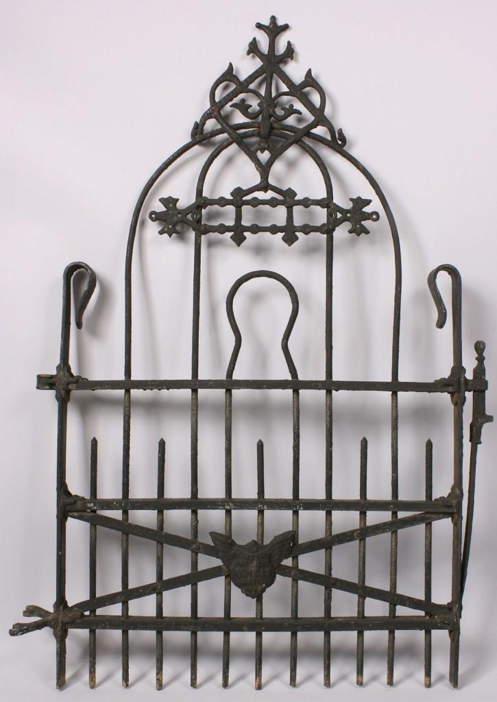 Lot 522: Knoxville TN marked iron garden gate