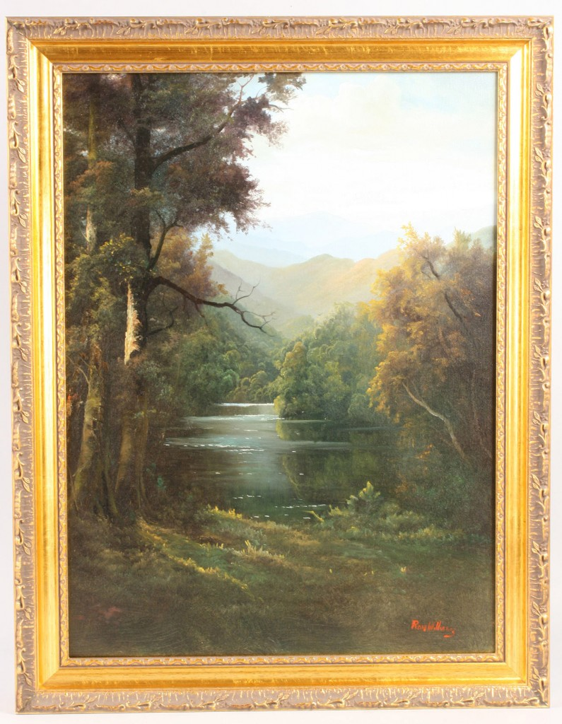 Lot 527: Ron Williams Oil on Canvas Landscape