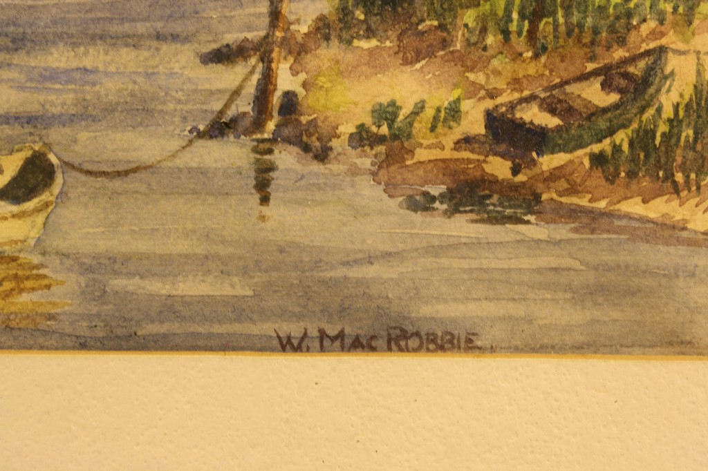 Lot 530: Lot of 2 Watercolors, Fulton & MacRobbie