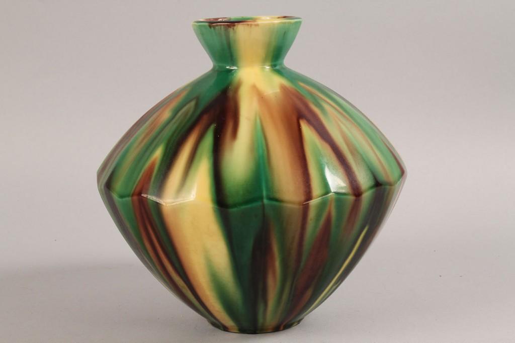 Lot 531: Art Pottery Vase, prob. Japanese