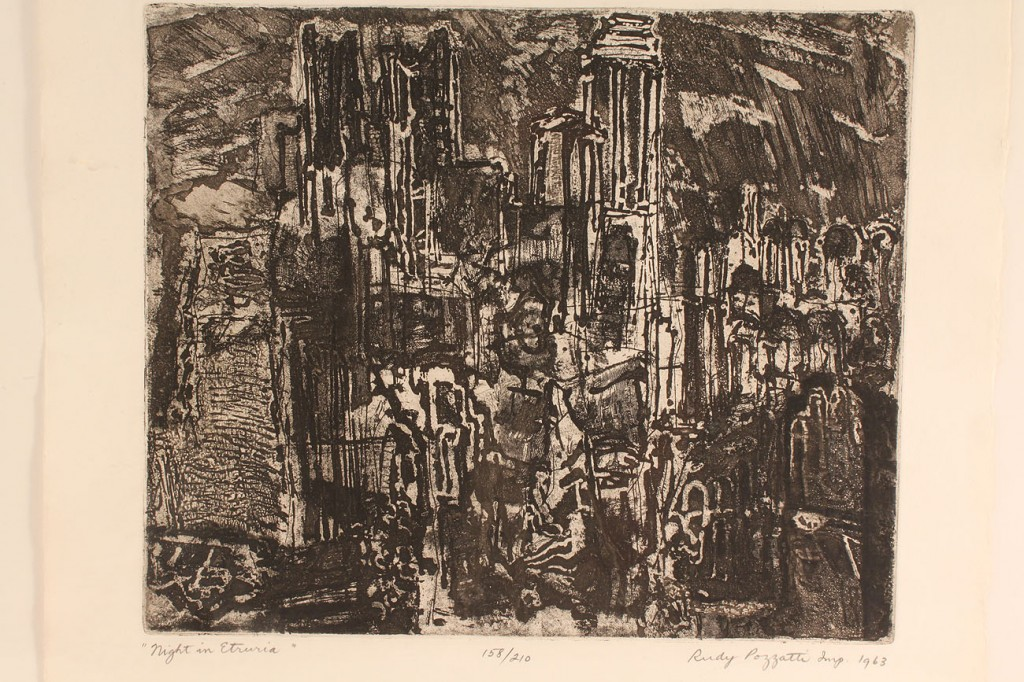 Lot 533: Lot of 2 etchings, Rudy O. Pozzati