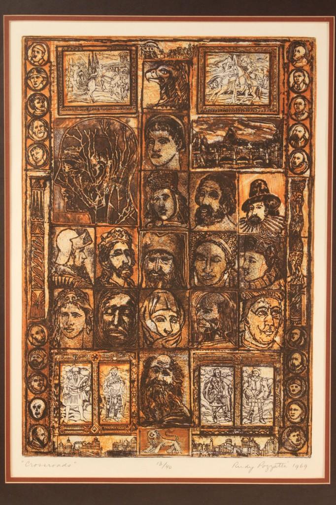 Lot 533: Lot of 2 etchings, Rudy O. Pozzati
