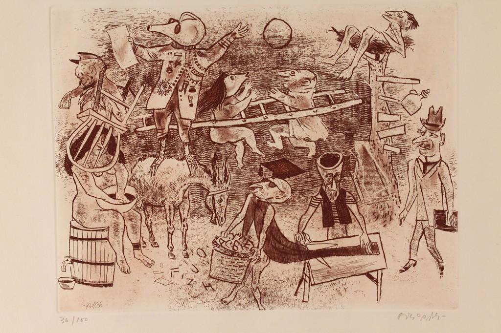 Lot 534: Lot of 4 prints: Garchik, Gropper, & others