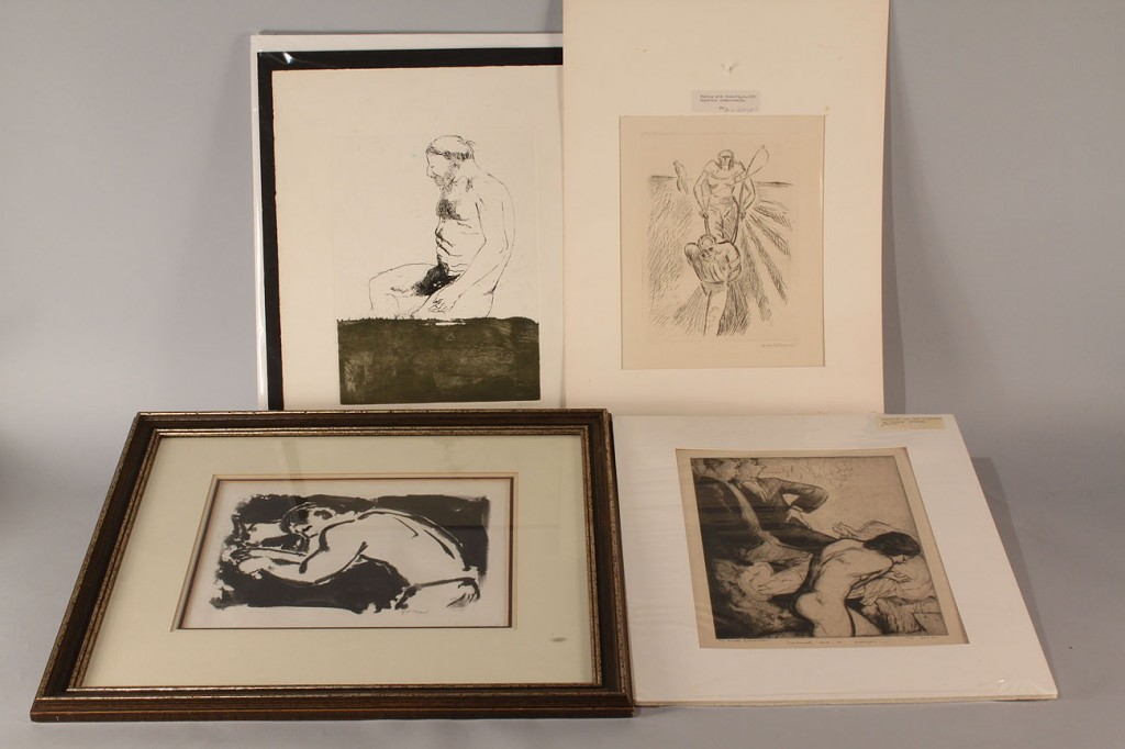 Lot 535: Lot of 4 prints : Baskin, Dyson, Pellegrini, Mead