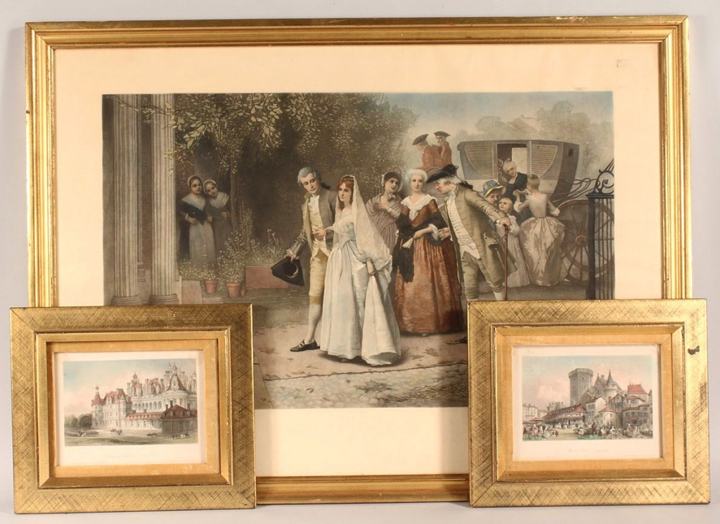 Lot 537: Three Victorian engravings