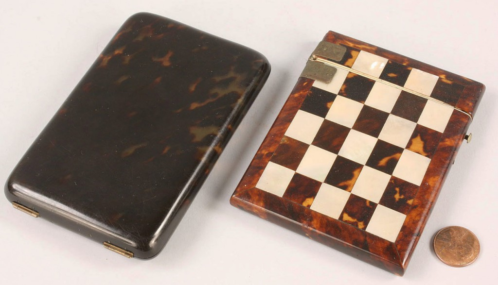 Lot 53: Lot of Two Cigarette Cases, one tortoise shell and