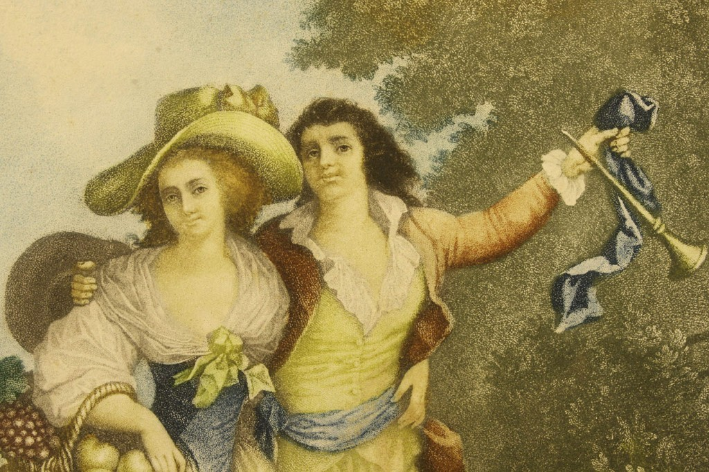 Lot 540: Pair of Colored Engravings, Levilly