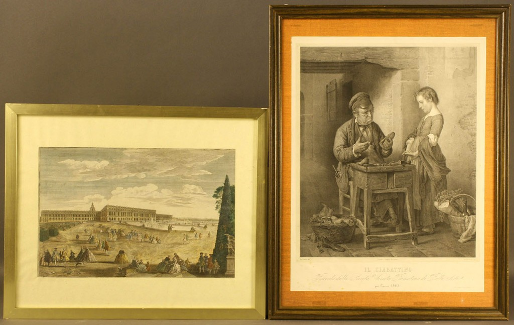 Lot 541: Lot of 2 European Etchings