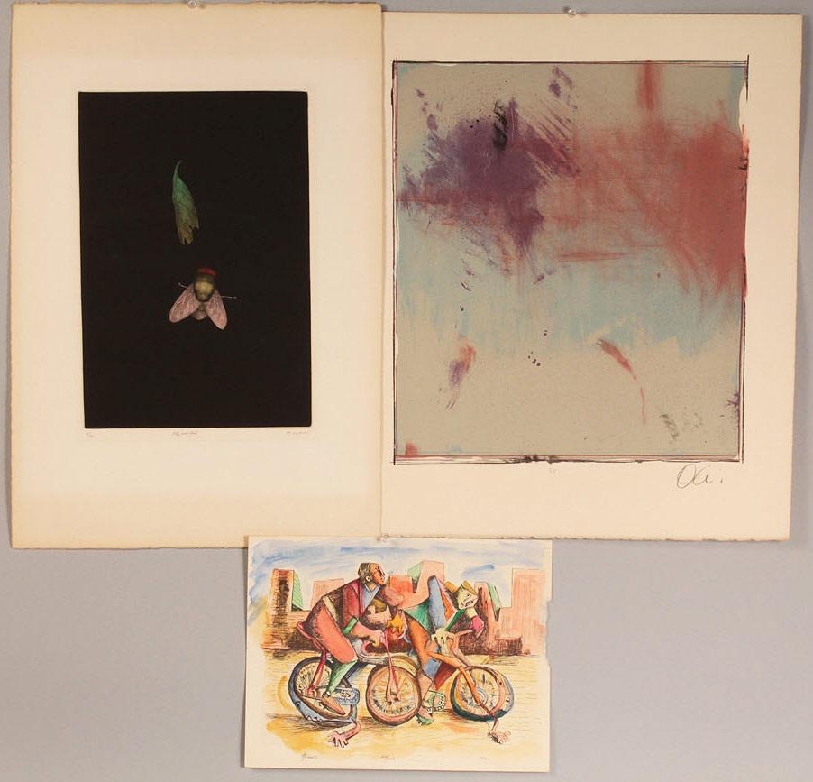 Lot 545: 3 Colored Lithographs Yokoi, Olivari, Torres