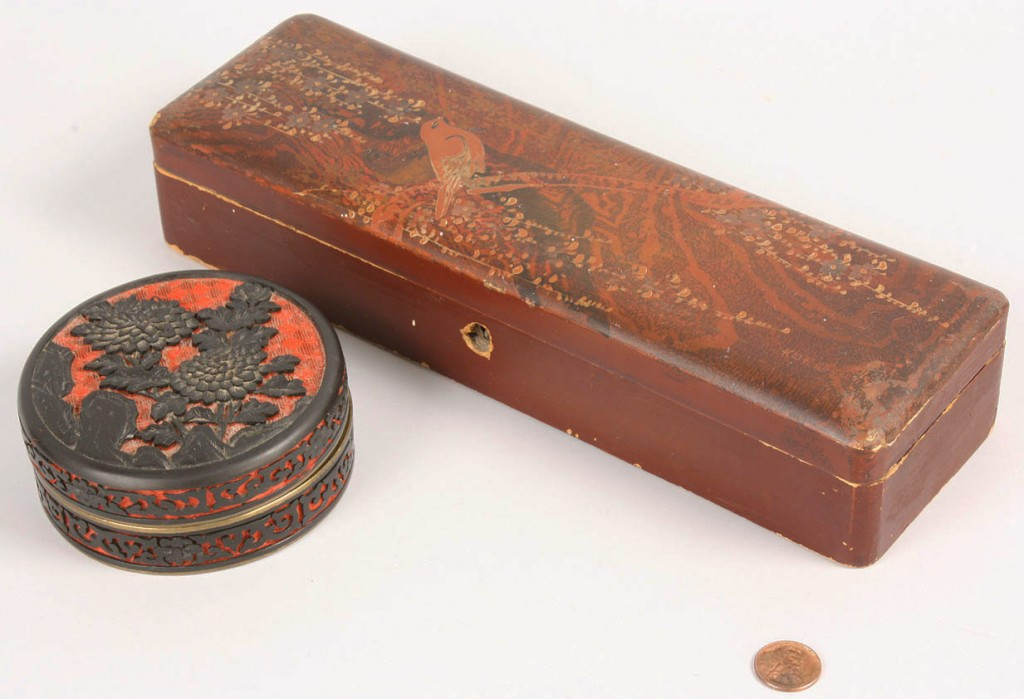 Lot 546: Lot of 2 Asian Boxes