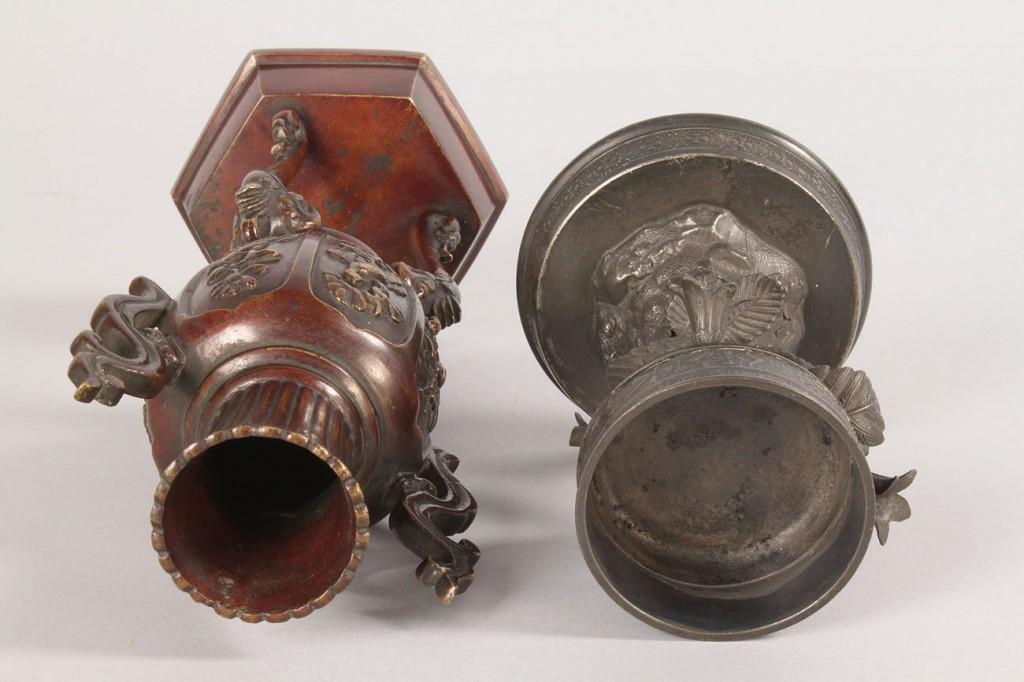 Lot 550: Lot of 2 Asian Metal Items