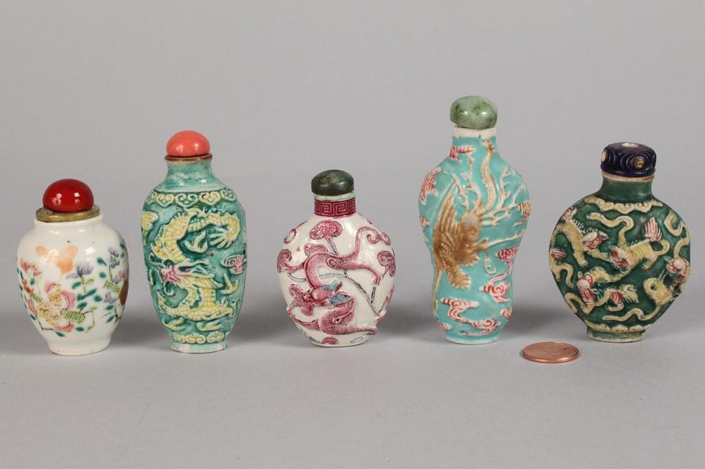 Lot 552: Lot of 5 Porcelain Snuff Bottles