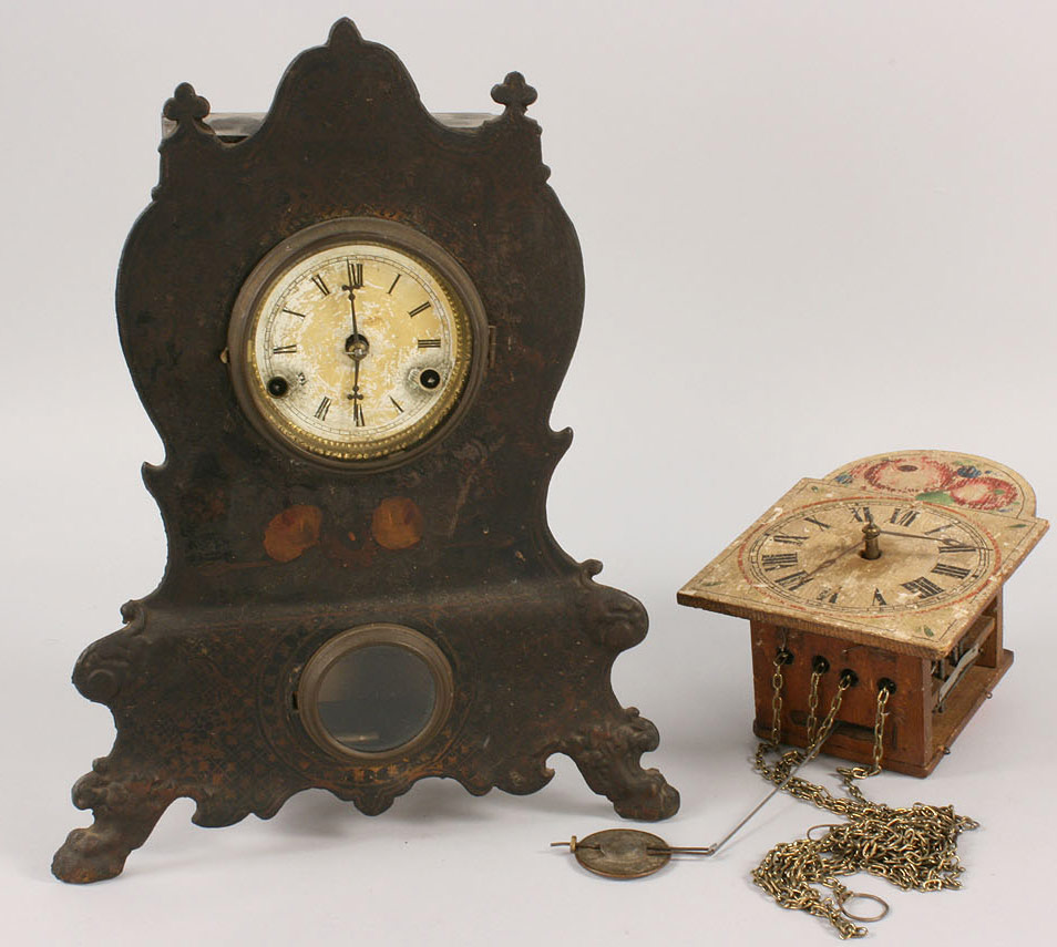 Lot 554: Lot of 2 Clocks, American and German