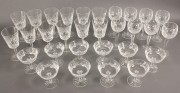 559: 30 pcs Waterford Crystal, Lismore Pattern