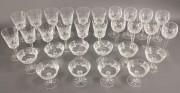 559: 30 pcs Waterford Crystal, Lismore Pattern