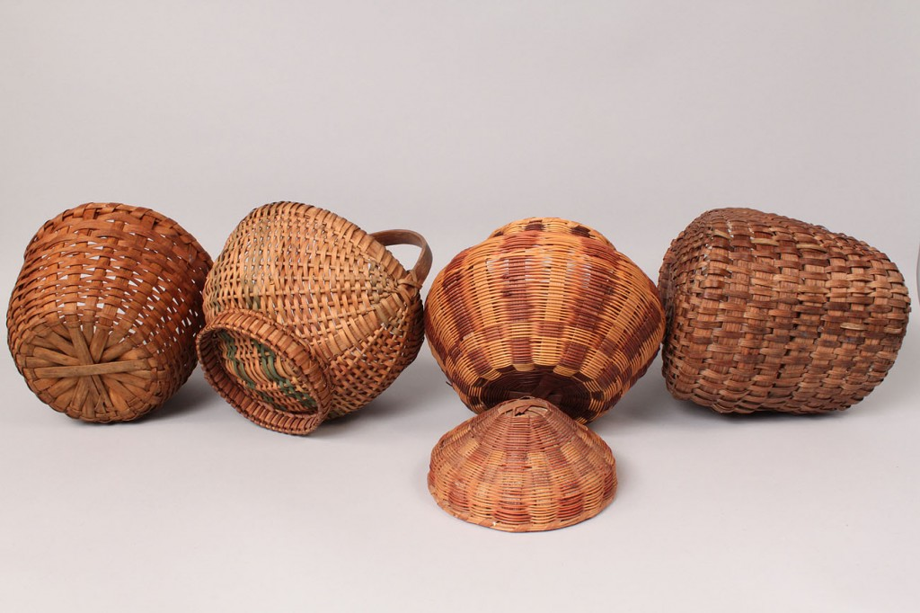 Lot 55: Four NC & TN Baskets, includes 2 Cherokee