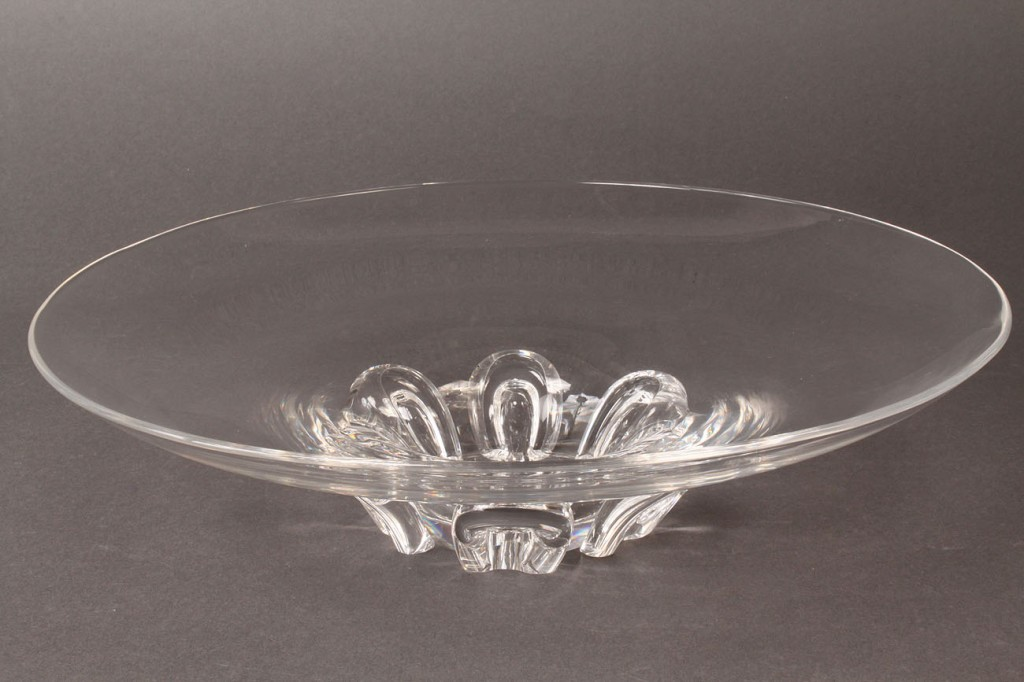 Lot 560: Steuben Glass footed Bowl