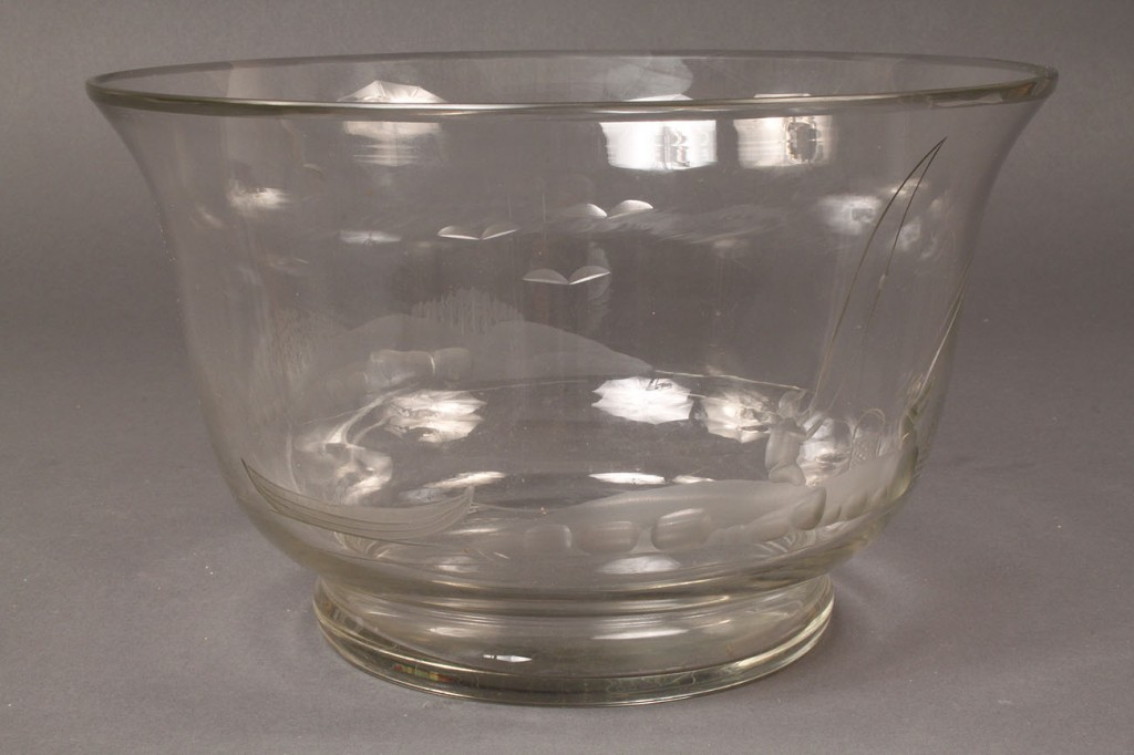 Lot 561: Vintage Karhula Art Glass Bowl, Signed