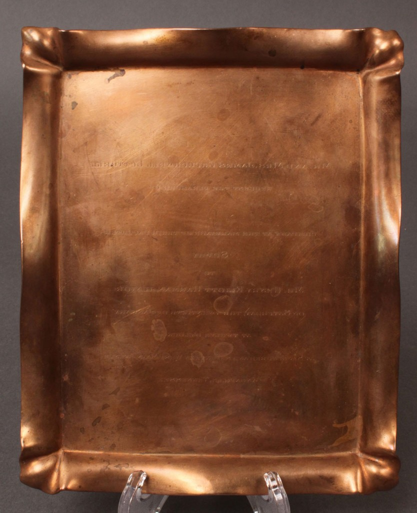 Lot 570: Copper Tiffany & Co. Printer's Plate