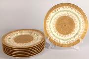 577: Royal Bavarian gold service plates (8)