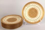 577: Royal Bavarian gold service plates (8)