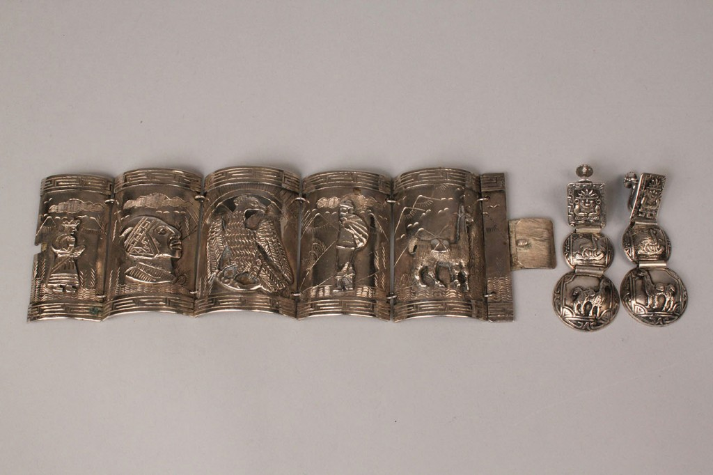 Lot 587: Siam and Incan Sterling Jewelry