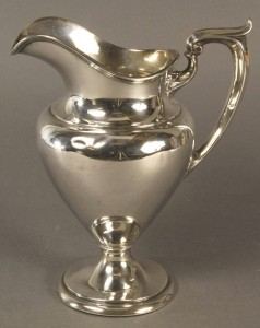 Lot 591: Gorham Sterling Silver water pitcher