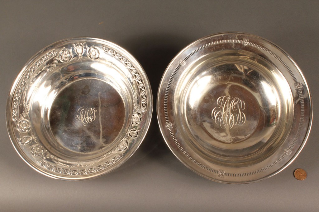 Lot 594: 2 Sterling Silver Bowls, Dominick & Haff