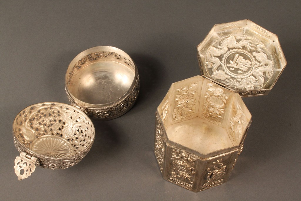 Lot 599: Lot of Three Asian Silver Items