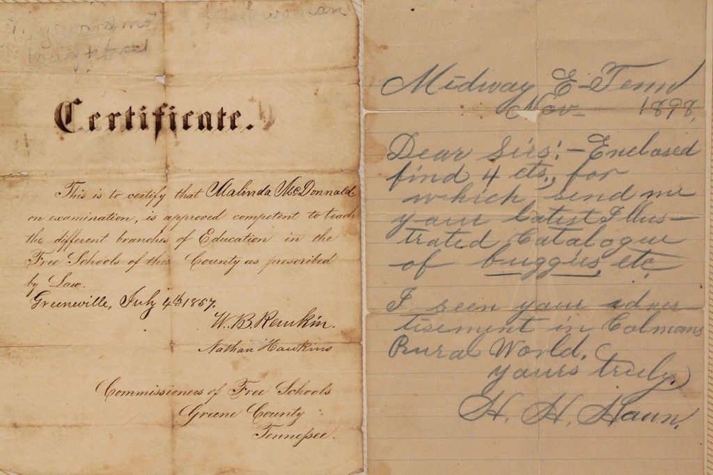 Lot 5: East TN-related Documents, Civil War Era