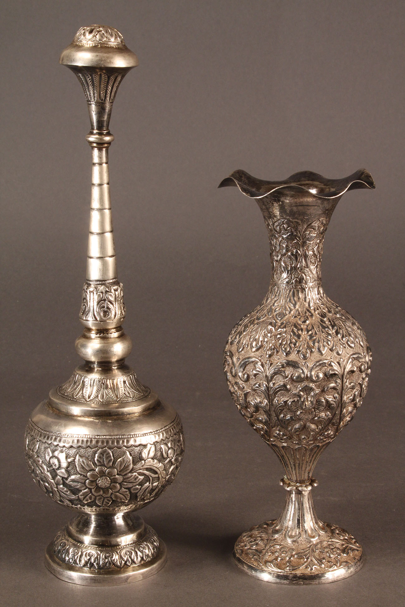 601: Lot of Two Persian Silver Items