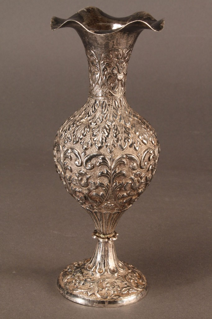 Lot 601: Lot of Two Persian Silver Items