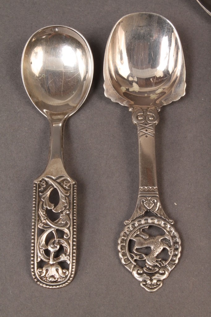 Lot 608: Danish mid-century silver flatware