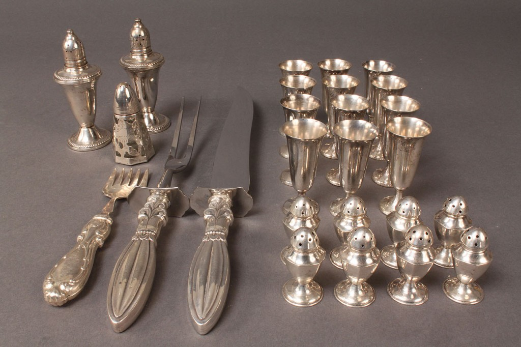 Lot 609: Lot of Sterling Table items inc. cordials