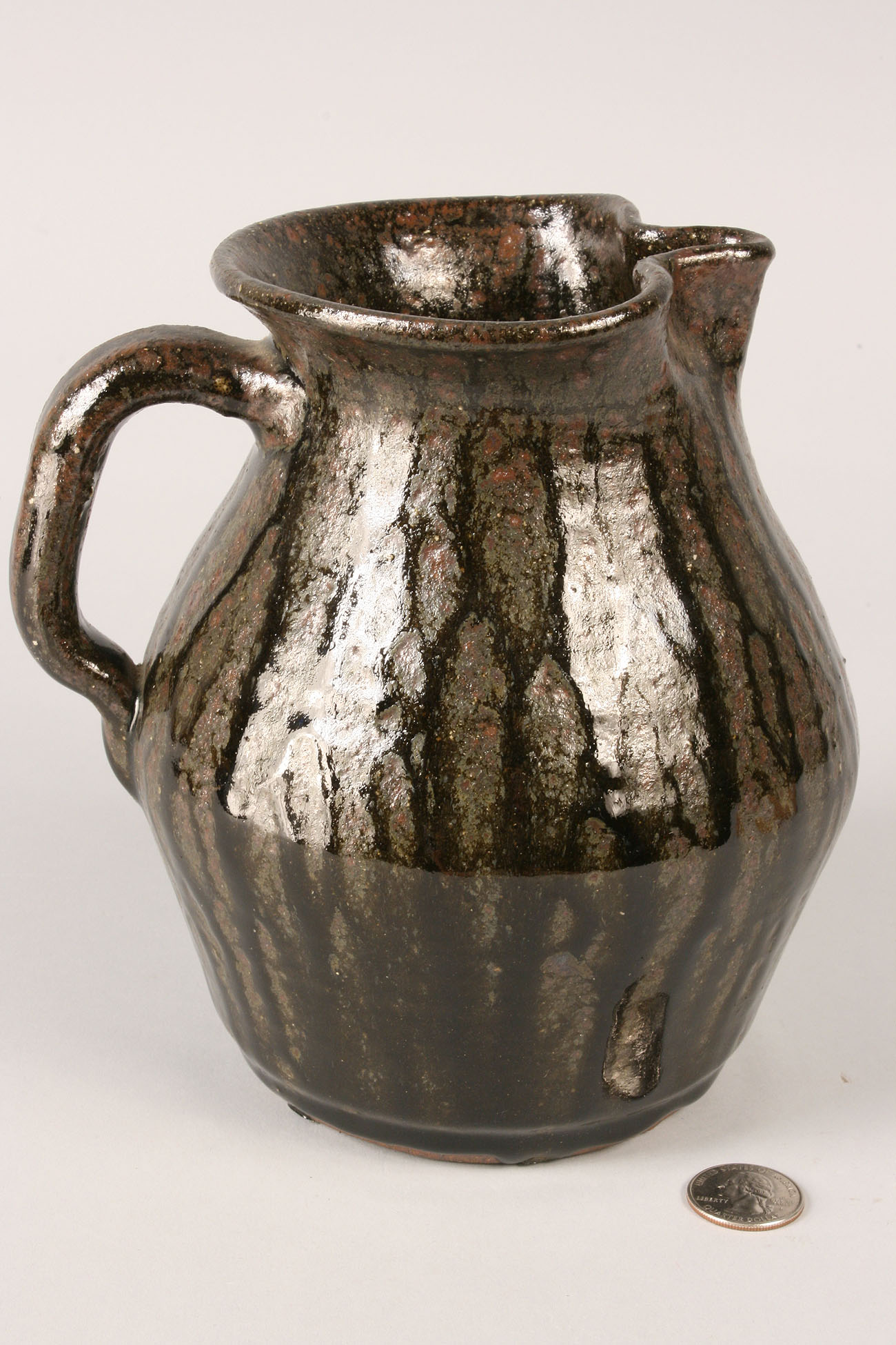 Lot 60: Lanier Meaders Pottery Pitcher