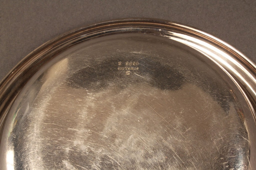 Lot 610: 2 Sterling Candy baskets and small bowl